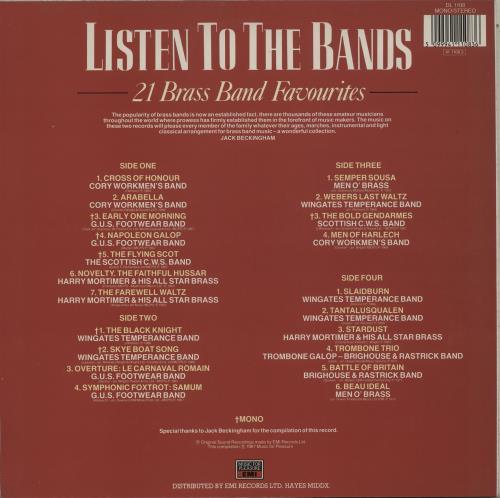 Various-Brass Bands Listen To The Bands - 21 Brass Band Favourites 2-LP vinyl record set (Double Album) UK VB82LLI762798