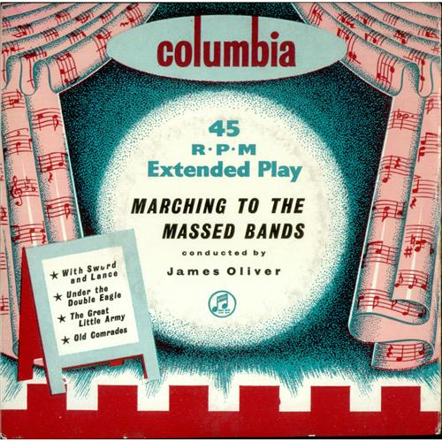 """Various-Brass Bands Marching To The Massed Bands EP 7"""" vinyl single (7 inch record) UK VB807MA423405"""