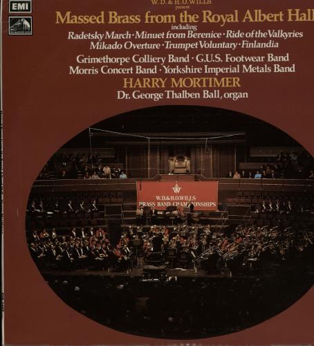 Various-Brass Bands Massed Brass From The Royal Albert Hall vinyl LP album (LP record) UK VB8LPMA644486