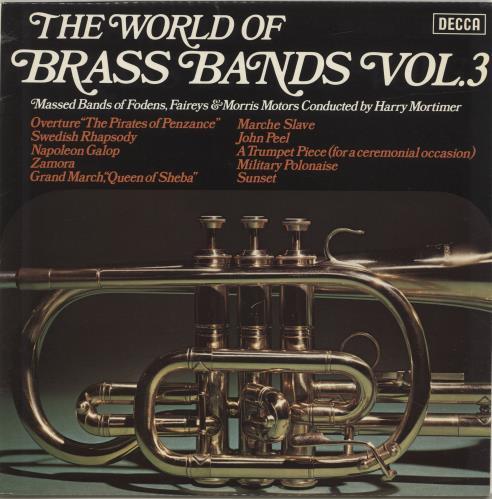 Various-Brass Bands The World Of Brass Bands Vol 3 vinyl LP album (LP record) UK VB8LPTH694499