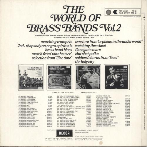 Various-Brass Bands The World Of Brass Bands Vol. 2 vinyl LP album (LP record) UK VB8LPTH694500