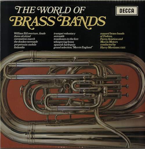 Various-Brass Bands The World Of Brass Bands vinyl LP album (LP record) UK VB8LPTH641166