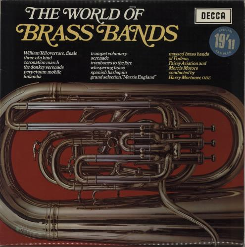 Various-Brass Bands The World Of Brass Bands vinyl LP album (LP record) UK VB8LPTH761967