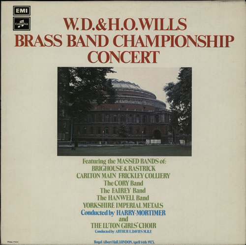 Various-Brass Bands W.D. & H.O. Wills Brass Band Championship Concert vinyl LP album (LP record) UK VB8LPWD641164