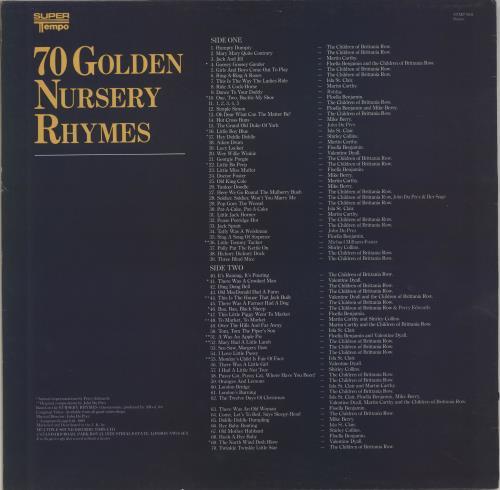 Various-Childrens 70 Golden Nursery Rhymes vinyl LP album (LP record) UK VC0LPGO703188