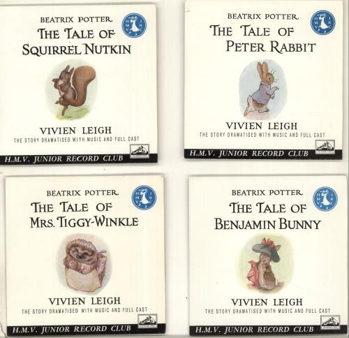 """Various-Childrens Beatrix Potter - The Tales Of Squirrel Nutkin/ Mrs. Tiggy-Winkle/ Peter Rabbit/ Benjamin Bunny 7"""" vinyl single (7 inch record) UK VC007BE698354"""