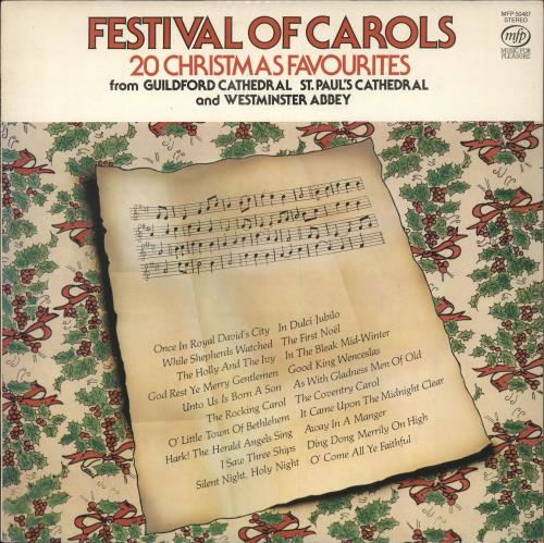 Various-Choral & Gregorian Chanting Festival Of Carols vinyl LP album (LP record) UK XA5LPFE710291
