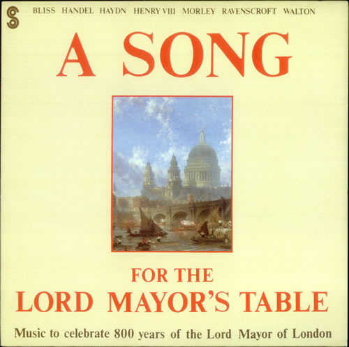 Various-Classical & Orchestral A Song for the Lord Mayor's Table vinyl LP album (LP record) UK VAFLPAS540392