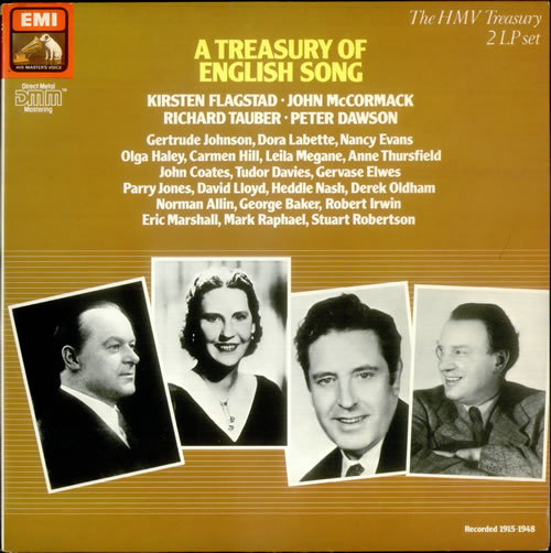 Various-Classical & Orchestral A Treasury of English Song 2-LP vinyl record set (Double Album) UK VAF2LAT540281