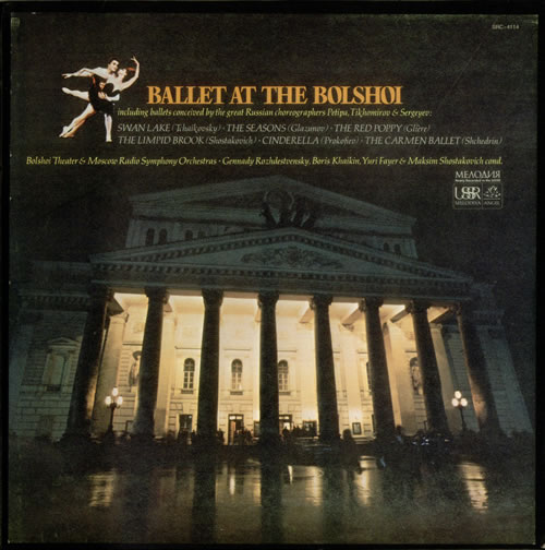 Various-Classical & Orchestral Ballet at the Bolshoi 3-LP vinyl record set (Triple Album) US VAF3LBA539810