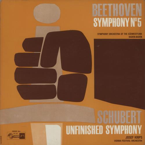 Various-Classical & Orchestral Beethoven: Symphony No. 5 / Schubert: Unfinished Symphony vinyl LP album (LP record) UK VAFLPBE661149