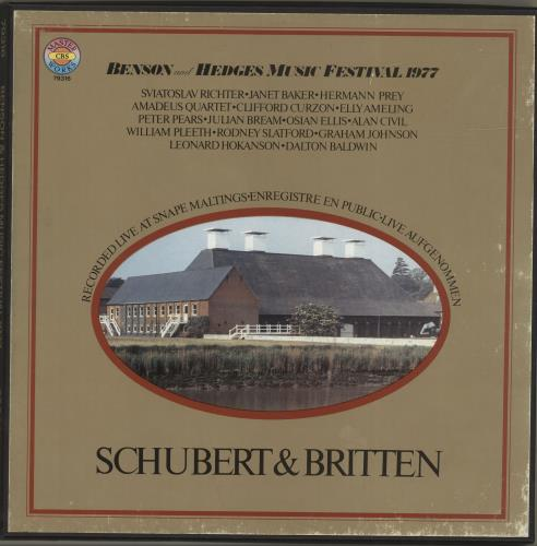 Various-Classical & Orchestral Benson And Hedges Music Festival 1977 Vinyl Box Set German VAFVXBE690751