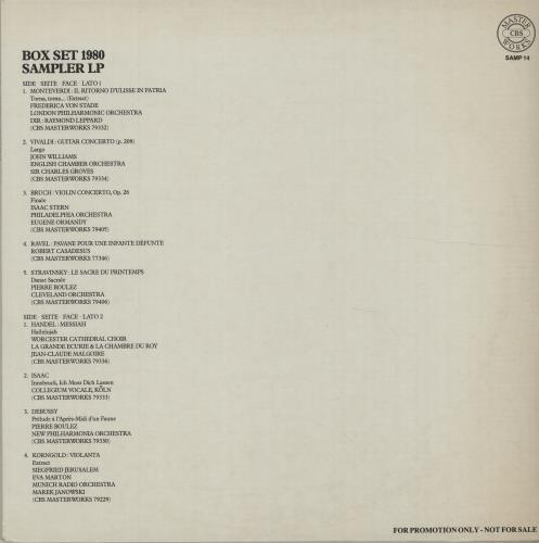 Various-Classical & Orchestral Box Set 1980 Sampler LP vinyl LP album (LP record) Dutch VAFLPBO675356