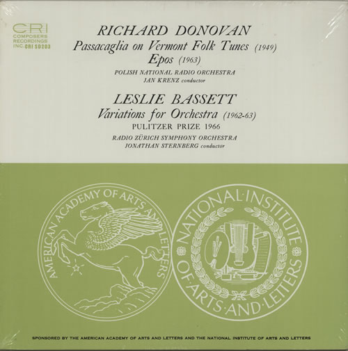 Various-Classical & Orchestral Donovan: Passacaglia / Eros - Bassett: Variations - Sealed vinyl LP album (LP record) US VAFLPDO630789
