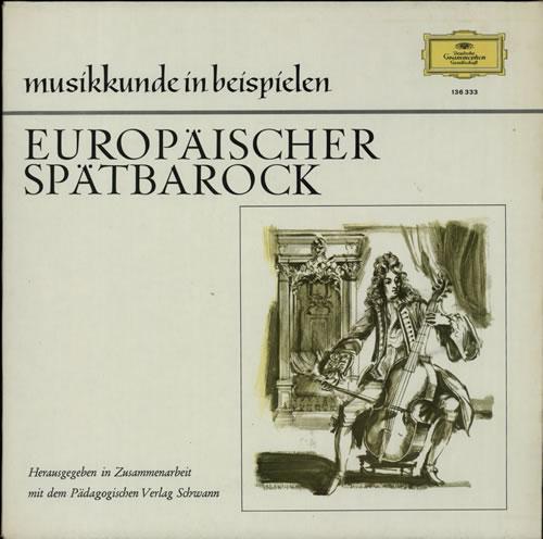 Various-Classical & Orchestral Europäischer Spätbarock vinyl LP album (LP record) German VAFLPEU633140