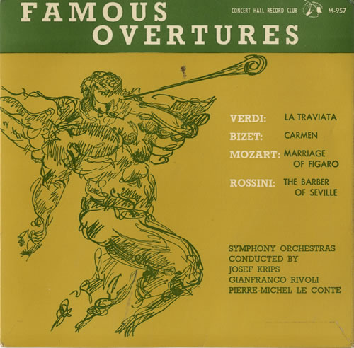 "Various-Classical & Orchestral Famous Overtures EP 7"" vinyl single (7 inch record) UK VAF07FA576079"