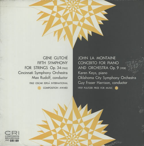 Various-Classical & Orchestral Gene Gutché: Fifth Symphony For Strings / John La Montaine: Concerto For Piano & Orchestra vinyl LP album (LP record) US VAFLPGE632055