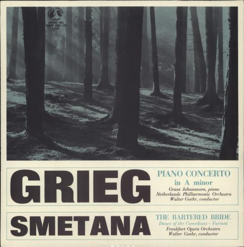 "Various-Classical & Orchestral Grieg: Piano Concerto in A Minor, Op.16 / Smetana: The Bartered Bride 10"" vinyl single (10"" record) UK VAF10GR707440"
