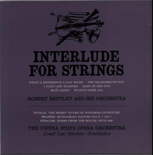 Various-Classical & Orchestral Interlude For Strings vinyl LP album (LP record) UK VAFLPIN612281
