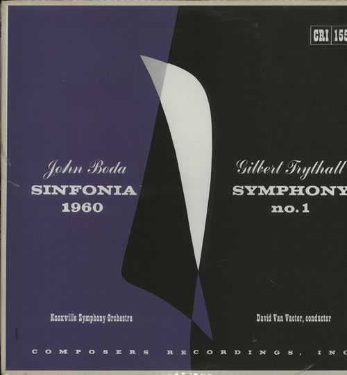 Various-Classical & Orchestral John Boda: Sinfonia / Gilbert Trythall: Symphony No. 1 - Sealed vinyl LP album (LP record) US VAFLPJO633132