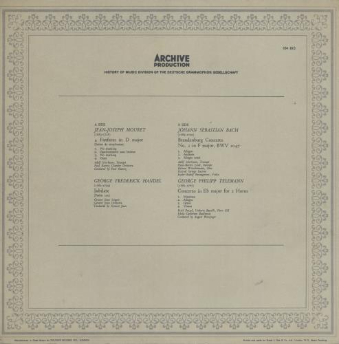Various-Classical & Orchestral Masterworks Of The Baroque vinyl LP album (LP record) UK VAFLPMA760511