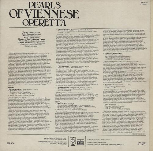 Various-Classical & Orchestral Pearls Of Viennese Operetta vinyl LP album (LP record) UK VAFLPPE758926