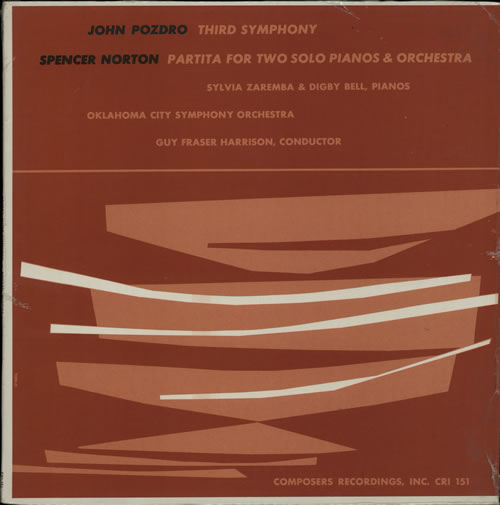 Various-Classical & Orchestral Pozdro: Third Symphony / Norton: Partita For Two Solo Pianos And Orchestra vinyl LP album (LP record) US VAFLPPO633116