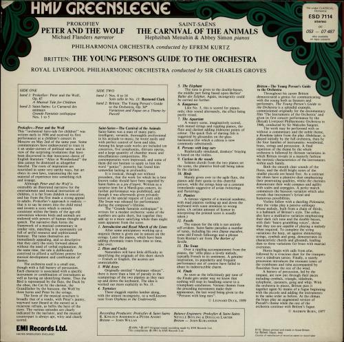 Various-Classical & Orchestral Prokofiev: Peter And The Wolf / Saint-Saëns: The Carnival Of The Animals / Britten: The Young Person vinyl LP album (LP record) UK VAFLPPR764754