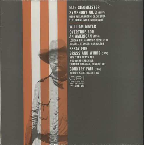 Various-Classical & Orchestral Siegmeister: Symphony No. 3 / Mayer: Overture For An American, Essay For Brass & Winds, Country Fair vinyl LP album (LP record) US VAFLPSI633125