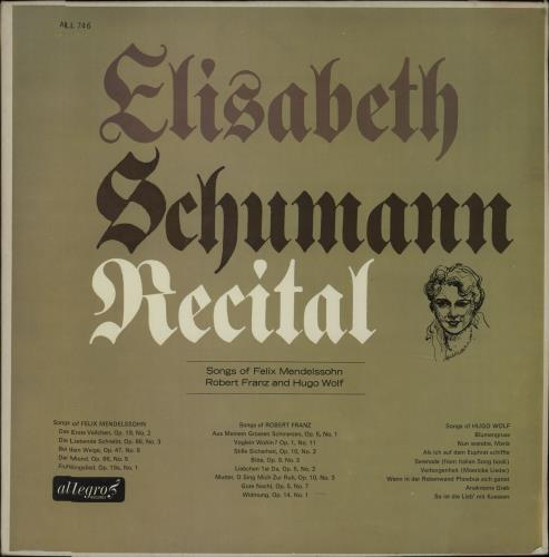 Various-Classical & Orchestral Songs Of Felix Mendelssohn Robert Franz And Hugo Wolf vinyl LP album (LP record) UK VAFLPSO669851