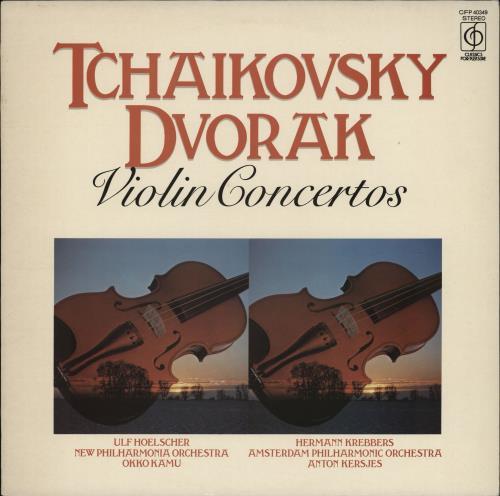 Various-Classical & Orchestral Tchaikovsky & Dvorák Violin Concertos vinyl LP album (LP record) UK VAFLPTC764806