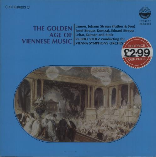 Various-Classical & Orchestral The Golden Age Of Viennese Music vinyl LP album (LP record) US VAFLPTH680390