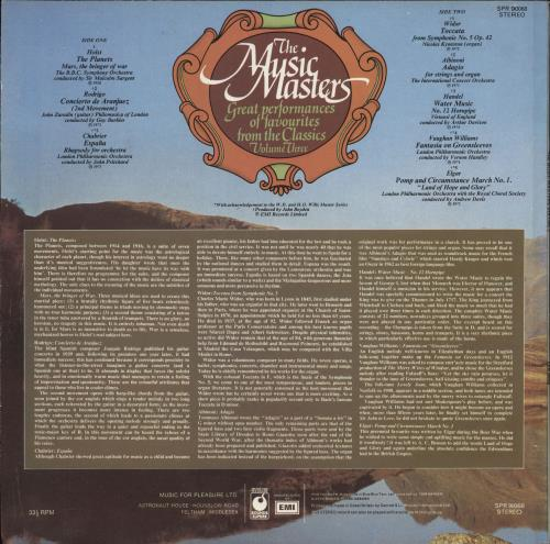 Various-Classical & Orchestral The Music Masters Volume Three vinyl LP album (LP record) UK VAFLPTH724522