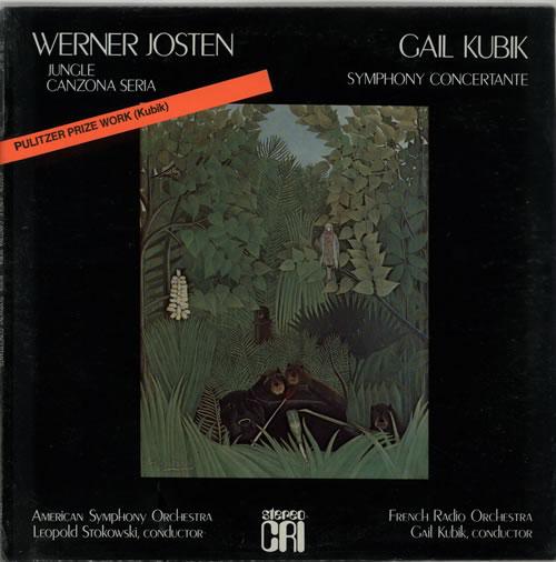 Various-Classical & Orchestral Werner Josten: Jungle & Canzona Seria / Gail Kubik: Symphony Concertante - Sealed vinyl LP album (LP record) US VAFLPWE632058