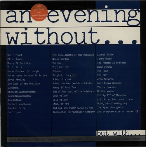 Various-Comedy An Evening Without.... vinyl LP album (LP record) UK V/CLPAN633085