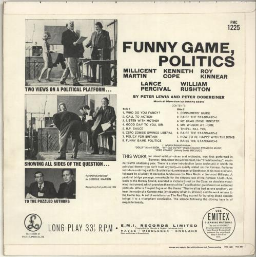 Various-Comedy Funny Game, Politics vinyl LP album (LP record) UK V/CLPFU696981