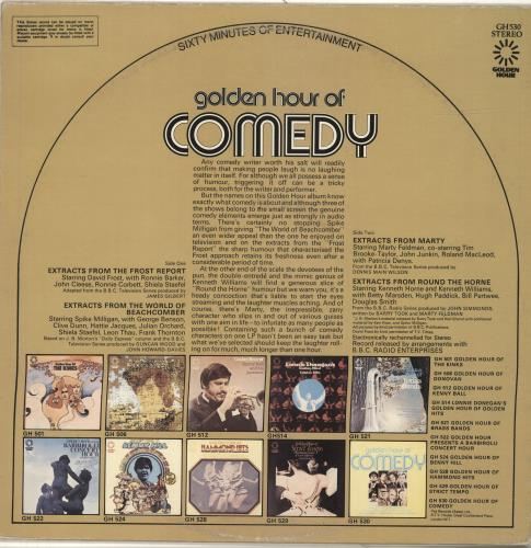 Various-Comedy Golden Hour Of Comedy vinyl LP album (LP record) UK V/CLPGO466559