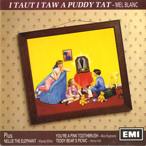 "Various-Comedy I Taut I Taw A Puddy Tat EP - Yellow Vinyl 7"" vinyl single (7 inch record) UK V/C07IT502520"