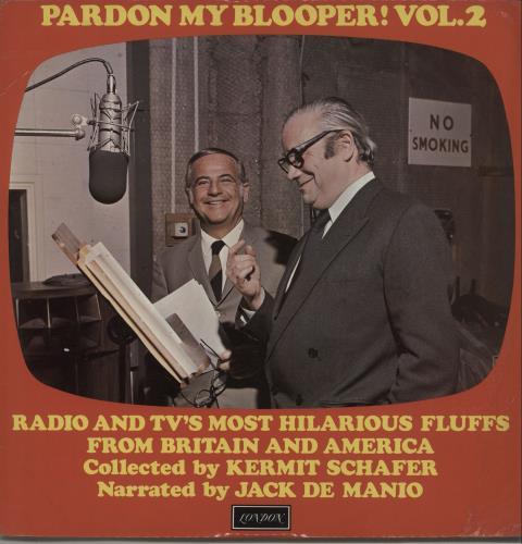 Various-Comedy Pardon My Blooper! Vol. 2 vinyl LP album (LP record) UK V/CLPPA660455