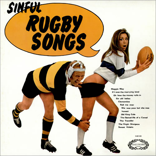 Various-Comedy Sinful Rugby Songs vinyl LP album (LP record) UK V/CLPSI462180