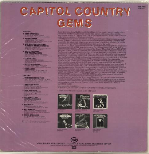 Various-Country Capitol Country Gems vinyl LP album (LP record) UK CVALPCA699561