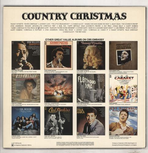 Various-Country Country Christmas vinyl LP album (LP record) UK CVALPCO737919