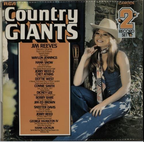 Various-Country Country Giants 2-LP vinyl record set (Double Album) UK CVA2LCO654014