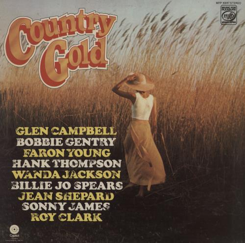 Various-Country Country Gold vinyl LP album (LP record) UK CVALPCO758208