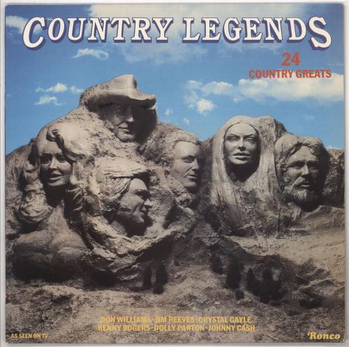 Various-Country Country Legends vinyl LP album (LP record) UK CVALPCO733218
