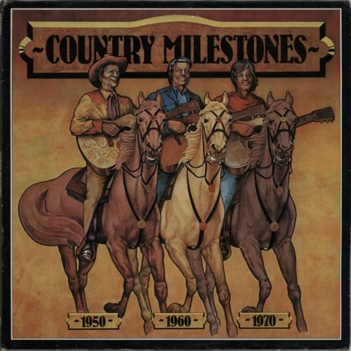 Various-Country Country Milestones 2-LP vinyl record set (Double Album) UK CVA2LCO617030