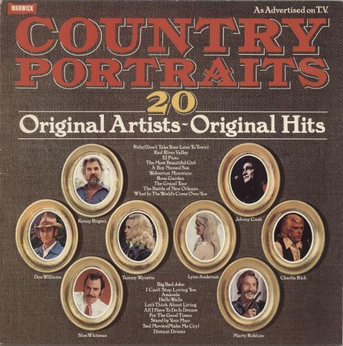 Various-Country Country Portraits vinyl LP album (LP record) UK CVALPCO692017