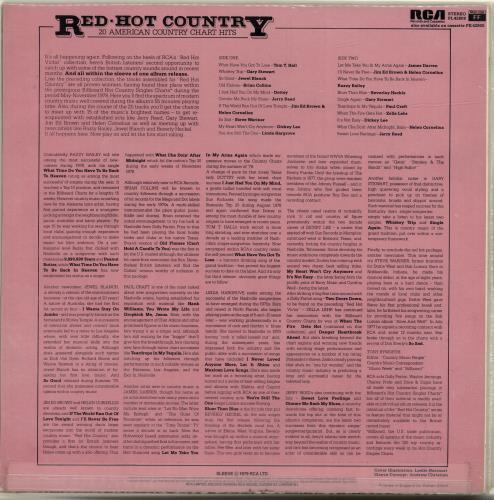 Various-Country Country Sides vinyl LP album (LP record) UK CVALPCO699562