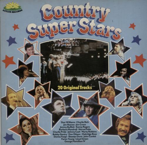 Various-Country Country Super Stars vinyl LP album (LP record) UK CVALPCO620991