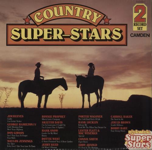 Various-Country Country Super-Stars 2-LP vinyl record set (Double Album) UK CVA2LCO758872